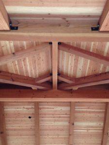 J Schmidt Construction Redwood ceiling beams
